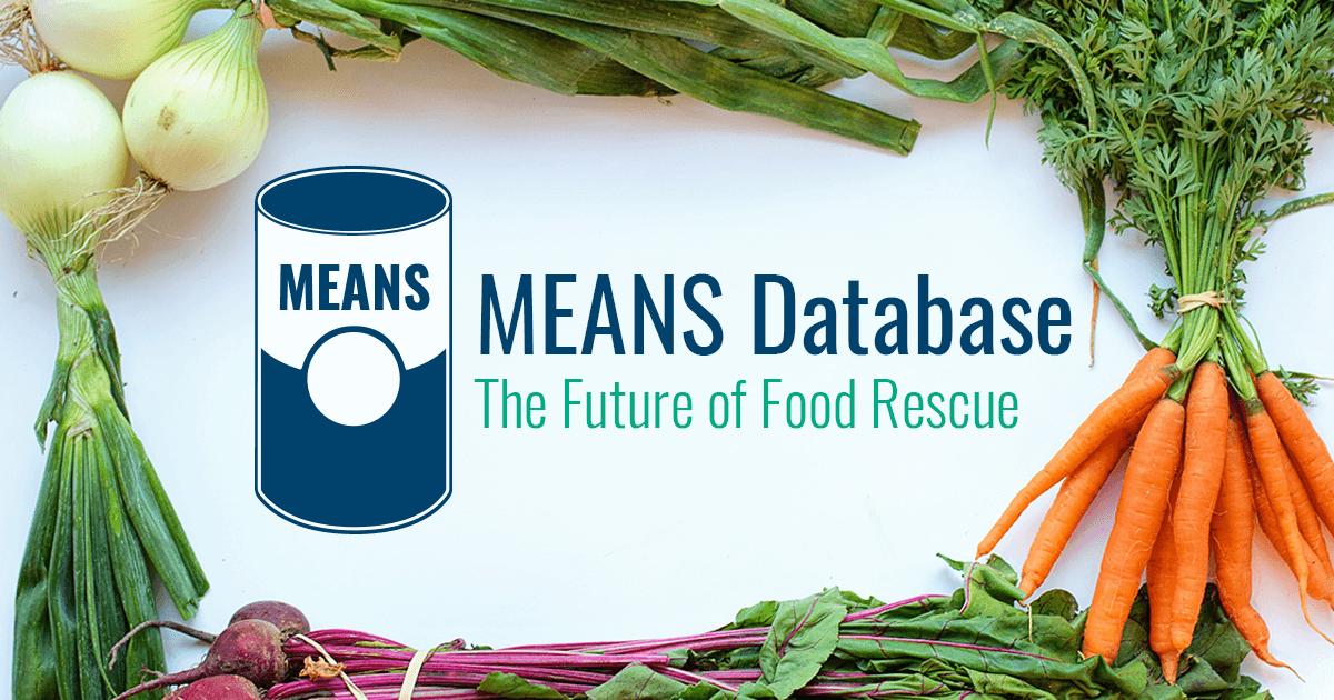 means database a nonprofit food rescue platform